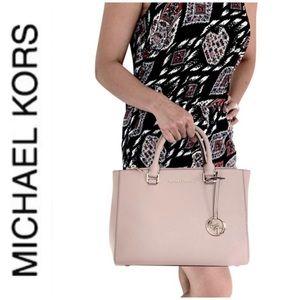 NWT authentic MK leather Kellen satchel fawn